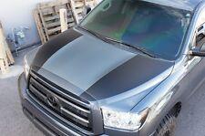 Vinyl Decal Race Hood Stripes Wrap Kit for Toyota Tundra TRD 07-13 Matte Black