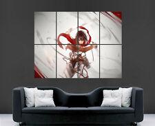 Attack on Titan Mikasa Ackerman manga japonés arte cartel impresión de foto grande
