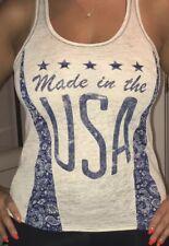 Womans USA Tank Top Sz S