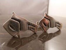 Vintage Sterling Silver Horse Head Cufflinks signed DTA