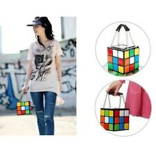 Cool Fashion Women Ladies Lovely Characteristic Rubik's Cube Handbag Clutch Bags