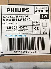 10 X Philips Master LED Candle 6W