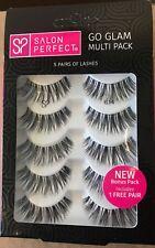 Salon Perfect Go Glam Multi Pack Eyelashes, 614 Black, 5 Pairs