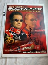 Signed Kenny Bernstein Budweiser Top Fuel Dragster NHRA Photo Card 8 x 10 N383