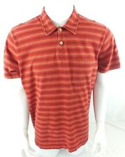 ABERCROMBIE AND FITCH MENS POLO RED STRIPED XL MUSCLE FIT