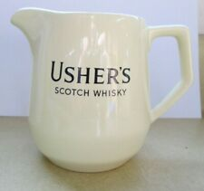 Vintage Usher's Scotch Whisky Ceramic Bar Pitcher Wade Regicor England