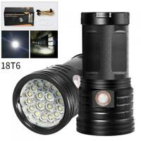 18 x XML-T6 LED Super Bright Torch Flash Lamp Flashlight with USB for Lighting