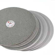 "4Pcs 10"" inch Grit 80 240 600 1200 Diamond Grinding Wheel Flat Lap Disc Lapidary"
