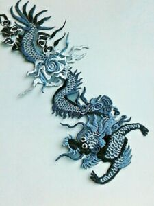 Chinese Dragon Handmade Sew-On Embroidered Patch