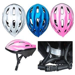 Trespass Kids Bike Helmet in Pink Blue White Boys Girls Cycling Scooter Cranky