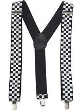La policía Ska Tirantes para Hombre Elástico Damas Vestido elegante y delgado 2.5cm de Ancho Tirantes
