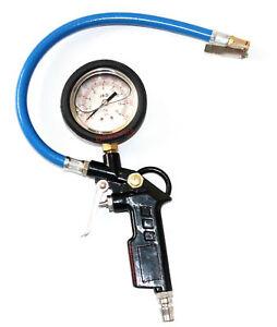 Air Tyre inflator Gauge Chuck Car Motorcycle Tire Pressure Dial Meter Oil shock