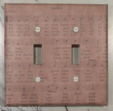 Primitive Sheet Music-Double Light Switch Cover-Medium-FREE Shipping