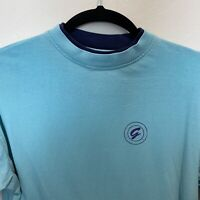 Vintage Gitano Light Blue TShirt Adult Size Small Short Sleeve Ring Neck 90s