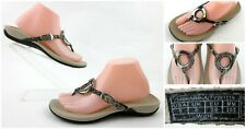 Vionic 'Karina' Thong Sandals Natural Snake Leather US 8 WIDE Width!