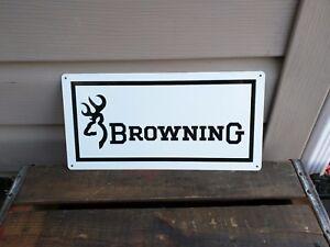 BROWNING FIRE ARMS Metal Sign Gun Shop Hunting Advertising 6x12 50092