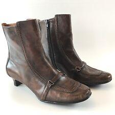 Born Ankle Boots Bolo Navan Kitten Heel  9 M/W Brown Leather
