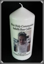 Cellini Candles Photo First Holy Communion Personalised Gift Boy Girl #1