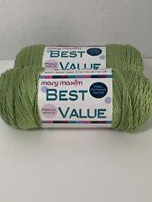 New listing New~Mary Maxim Best Value Yarn ~Leaf Green~ #665303~Acrylic~ 6 oz, 170 g 342 yds