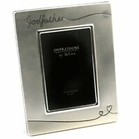 Silver Plated Godfather Photo Frame - Godfather Gift