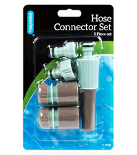 Hose Connector Set Garden Water Pipe Tap Plastic Adapter Quick Fitting 5 Piece