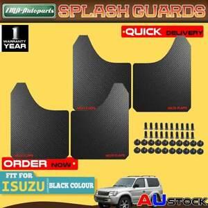 4x Black Front Rear Universal Splash Guard Mud Flap for Isuzu D-Max DMax Rodeo