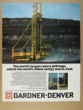 1976 Gardner-Denver Rotary Drill photo 'World's Largest' vintage print Ad