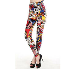 Marvel Comic Cartoon Printed Fun Women's Leggings  One size UK 8-12