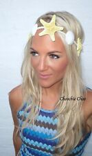 SEA Shell GIALLO VERA STELLA MARINA capelli Head Band Choochie Choo Beach SIRENA Boho