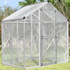 Heavy Duty Aluminum Large Bird Cage For Parrot Cockatiel Macare Walk In Aviary