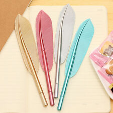 5x New Cute Wing Feather Ballpoint Ink Pens Creative Stationery Student Gift HW