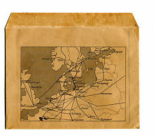 Vintage Ticket Envelope TRALLEBORG SASSNITZ TRAIN FERRY w route map Sweden
