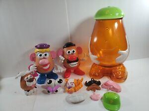 Mr. Potato Head Hasbro Storage Container Parts And Pieces Lot Pawtucket 2002