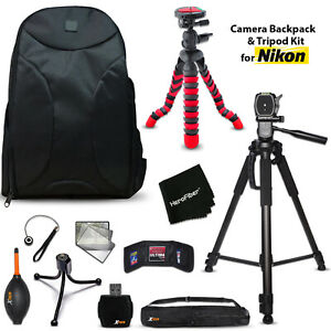 Well Padded Camera Backpack + 2 Tripods + KIT for  Nikon D5500