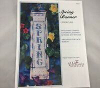 The Victoria Sampler Spring Banner Cross Stitch Kit and Bell Pull