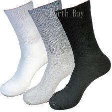 3 6 12 Pairs Mens Circulatory Diabetic Crew Socks Health Cotton 9-11 10-13 13-15