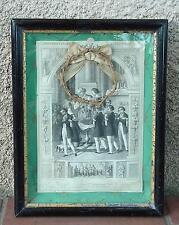 SOUVENIR PRÉCIEUX À L'ÂME FIDÈLE 14 MAI 1874 ENCADREMENT NAPOLÉON III