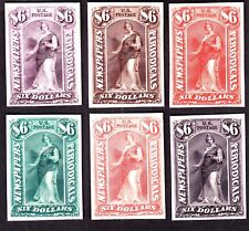 US PR26TC3 $6 Newspapers & Periodicals Trial Color India Proofs on Card SCV $210