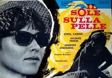 Le SOLEIL DANS L'OEIL SUN IN YOUR EYES fotobusta movie poster ANNA KARINA 1962