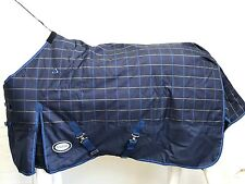 !!CLEARANCE!! AXIOM 1200D TARTAN BLUE/YELLOW/NAVY 300gm PADDOCK HORSE RUG 5' 6