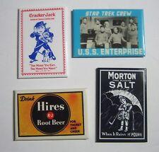 ADVERTISING MIRRORS Metal Signs STAR TREK Morton Salt CRACKER JACK And HIRES
