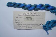 Thread Gatherer Silk 'N Colors SNC 050 Blue Seas 7 yd Skeins 100% Silk Hand Dyed