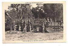 camp de chambaran   pièce de 280 au tir  sur affut chenille