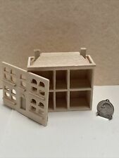 Miniature Wooden Unfinished Dollhouse for your Dollhouse 1:12