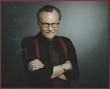 "New ListingLarry King, Tv Talk Show Host, Signed 10"" x 8"" Photo, Coa, Uacc Rd 036"