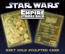 STAR WARS EMPIRE STRIKES BACK 23KT GOLD CARD