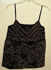 NWT IDEOLOGY BEADED EMBROIDERED EVENING PARTY PROM TOP MISSES S/M