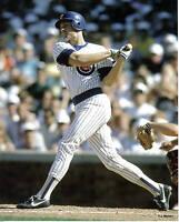8x10 Photo Baseball,Ryne Sandberg,Chicago Cubs,game action#1,batting,home jersey