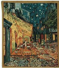 "The Terrace by Van Gogh Belgian Tapestry Cafe at Night 34""x41"""