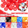 20Set/80Pcs Colorful T5 Resin Snap Buttons Fastener Diaper Craft Press Stud 12mm